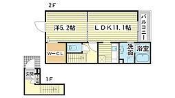ラ・ルーチェI[203号室]の間取り