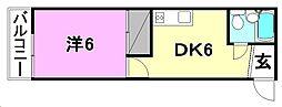 コテージ桜館[206 号室号室]の間取り