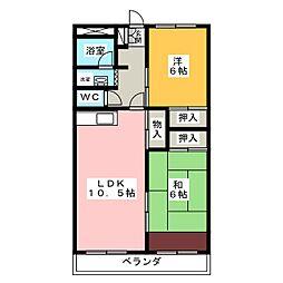 エスポワール蓮花寺[2階]の間取り