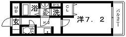 レジュールアッシュ天王寺[402号室号室]の間取り