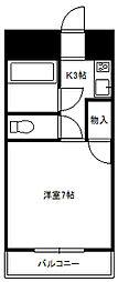ホワイトハイツ鹿島台[3階]の間取り