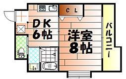 コンダクト小倉No.1ビル[905号室]の間取り