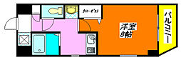 M'プラザ高井田 401号室[4階]の間取り