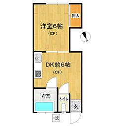 沼田アパート[202号室]の間取り