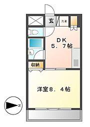 ブロア中村[7階]の間取り