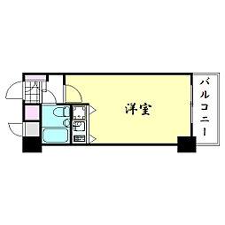 ライオンズマンション上本町第三[2階]の間取り