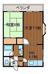 クリエールクラモト3[2階]の間取り