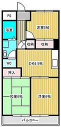 第2ロイヤルマンション[3階]の間取り
