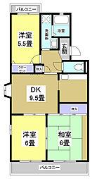 メゾンファミーユ[3階]の間取り