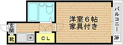 Le・Chante ル・シャンテ[302号室]の間取り