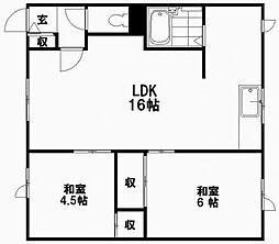 第一新栄ハイツ[2階]の間取り