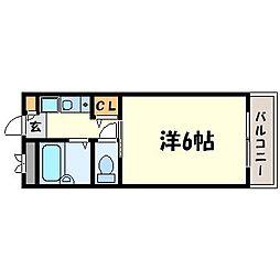 COZYセイケン弐番館[2階]の間取り