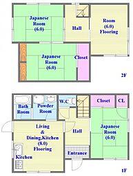 [一戸建] 兵庫県神戸市垂水区下畑町字唐ケ谷 の賃貸【/】の間取り