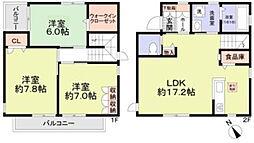 [一戸建] 東京都町田市忠生4丁目 の賃貸【/】の間取り