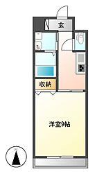 愛知県名古屋市東区豊前町3丁目の賃貸マンションの間取り