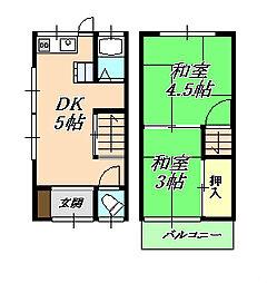[テラスハウス] 兵庫県神戸市垂水区山手5丁目 の賃貸【/】の間取り