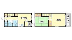 [テラスハウス] 兵庫県姫路市野里東同心町 の賃貸【兵庫県 / 姫路市】の間取り