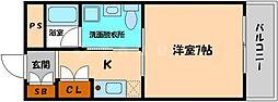 SK都島北通[4階]の間取り