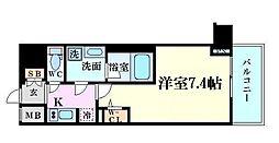 ファーストフィオーレ東梅田 6階1Kの間取り