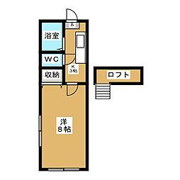 ホワイトキャッスル遠見塚15番館[1階]の間取り