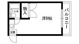 寺下ハイツ[308号室]の間取り