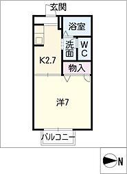 セゾンプレミール A棟[1階]の間取り