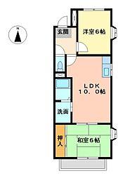 カトル・セゾンII[2階]の間取り
