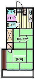 石栄コーポ[104号室]の間取り