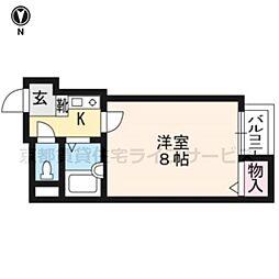 京都府京都市東山区大和大路通五条下る石垣町西側の賃貸マンションの間取り