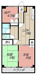 コ−ユ−森下[102号室]の間取り