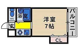 大阪府寝屋川市高宮新町の賃貸マンションの間取り
