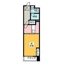POWERHOUSE the residence 12階1DKの間取り