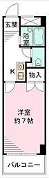 愛知県名古屋市千種区本山町3の賃貸マンションの間取り