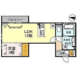 仮)D-room諸江II[202号室]の間取り