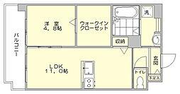 エイペックス6[6階]の間取り