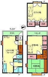 [テラスハウス] 東京都府中市本町2丁目 の賃貸【/】の間取り