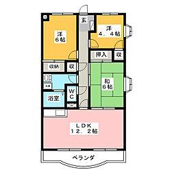 マ・メゾン蜆塚[4階]の間取り