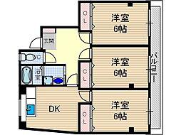 岸本ビル[2階]の間取り
