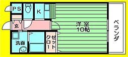 ジュネス花園 岩田町1 河内花園5分[103号室]の間取り