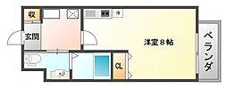 ジャン・プラス・ソック千里山III[2階]の間取り