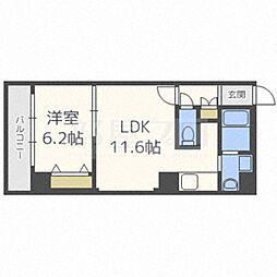 北海道札幌市中央区北二条東3丁目の賃貸マンションの間取り