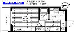 東京都板橋区桜川2丁目の賃貸マンションの間取り