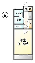 愛知県名古屋市西区南堀越1丁目の賃貸アパートの間取り