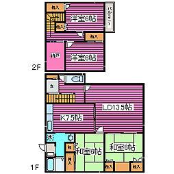 [一戸建] 北海道札幌市東区伏古十一条3丁目 の賃貸【/】の間取り