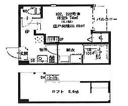 HR金田町[202号室]の間取り