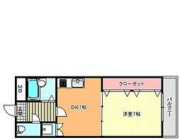 エイチ・ツーオー今川[2階]の間取り