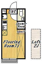 フローラ1[1階]の間取り