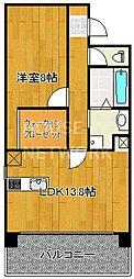 IL ROSSO堀川六角[1402号室号室]の間取り