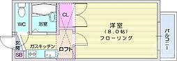 JR東北本線 岩沼駅 徒歩5分の賃貸アパート 2階1Kの間取り