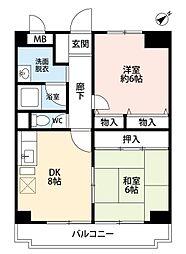 ステラ北梅田[5階]の間取り